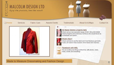 Screenshot of the Malcolm Design website