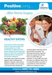 Ostomy Lifestyle Healthy Eating leaflet cover shot